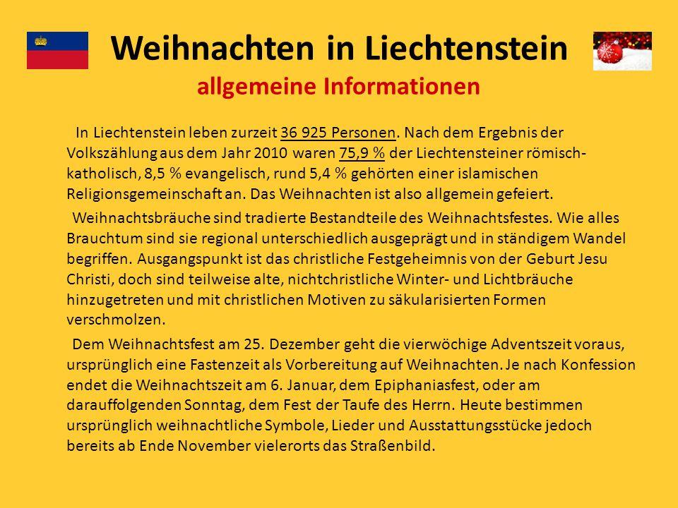 Weihnachtstraditionen in Liechtenstein - ppt herunterladen