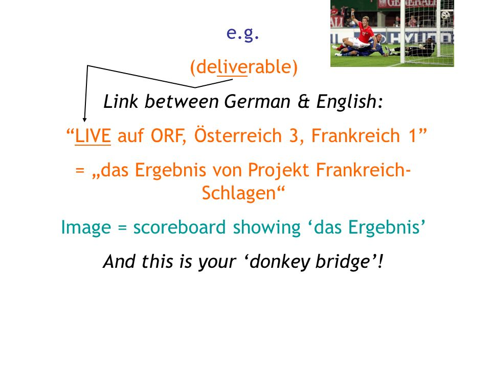 Link between German & English: