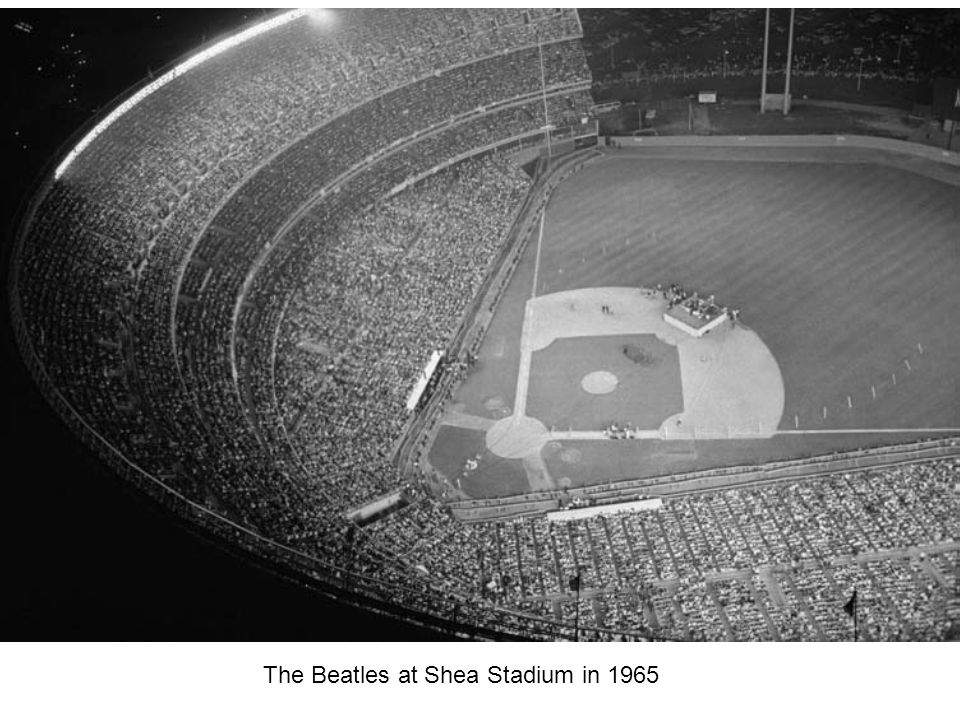 The Beatles at Shea Stadium in 1965