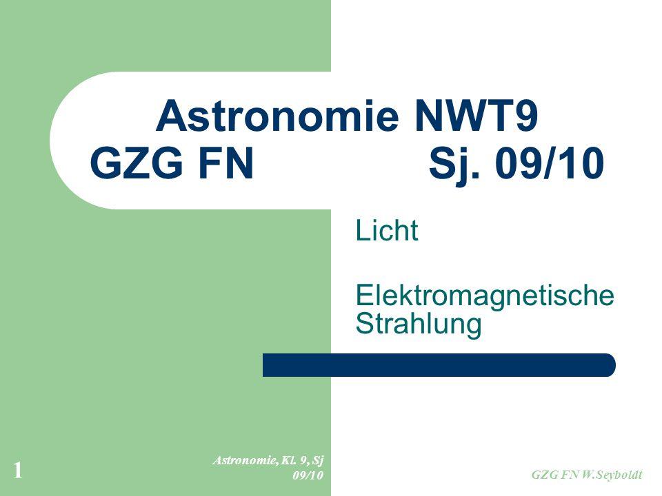 Astronomie NWT9 GZG FN Sj. 09/10 - ppt herunterladen