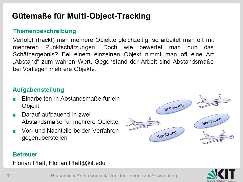 Gütemaße für Multi-Object-Tracking
