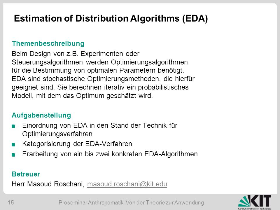 Estimation of Distribution Algorithms (EDA)