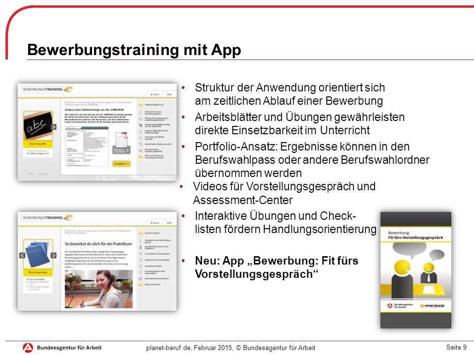 9 bewerbungstraining mit app - Planet Berufe Bewerbung