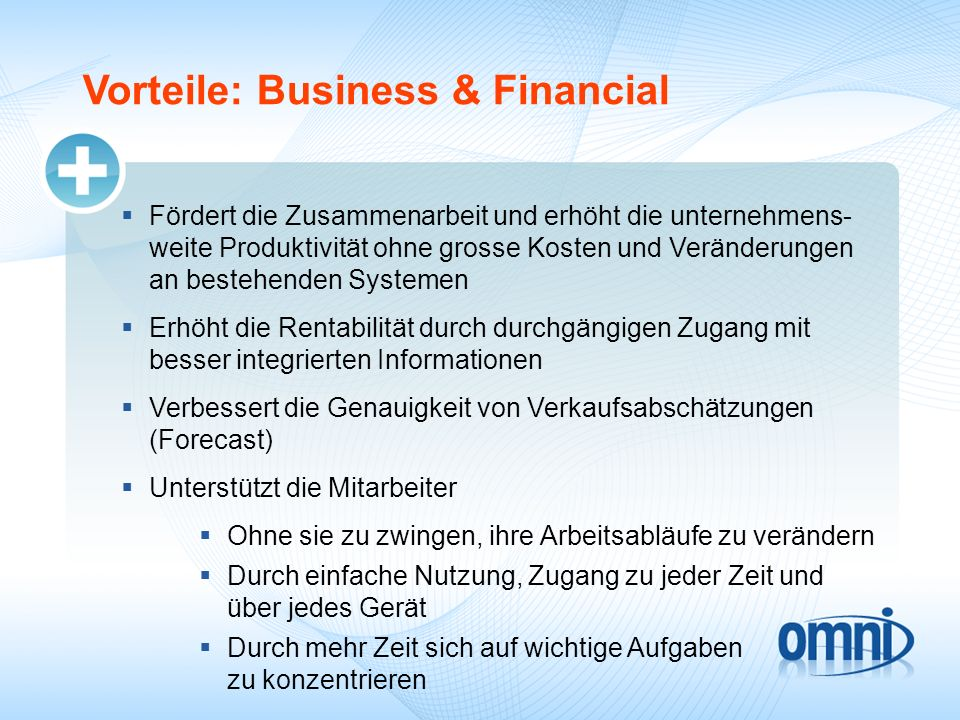 Vorteile: Business & Financial