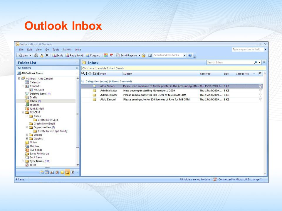 09/18/09 Outlook Inbox