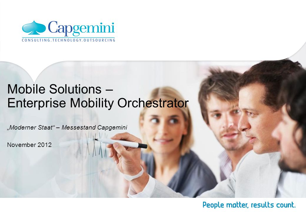 "Mobile Solutions – Enterprise Mobility Orchestrator ""Moderner Staat – Messestand Capgemini"