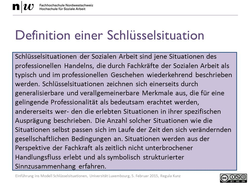 Definition einer Schlüsselsituation