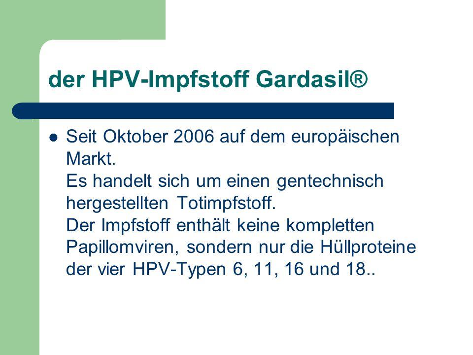 hpv impfung tot oder lebendimpfstoff