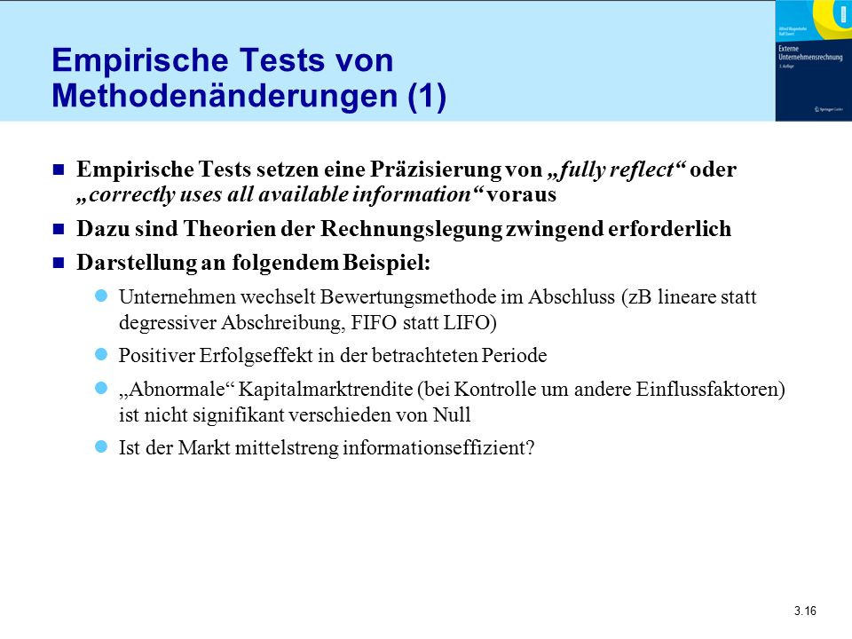 Empirische Tests von Methodenänderungen (1)