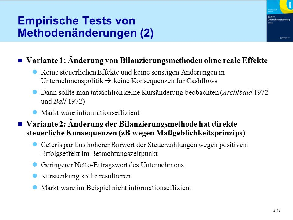 Empirische Tests von Methodenänderungen (2)