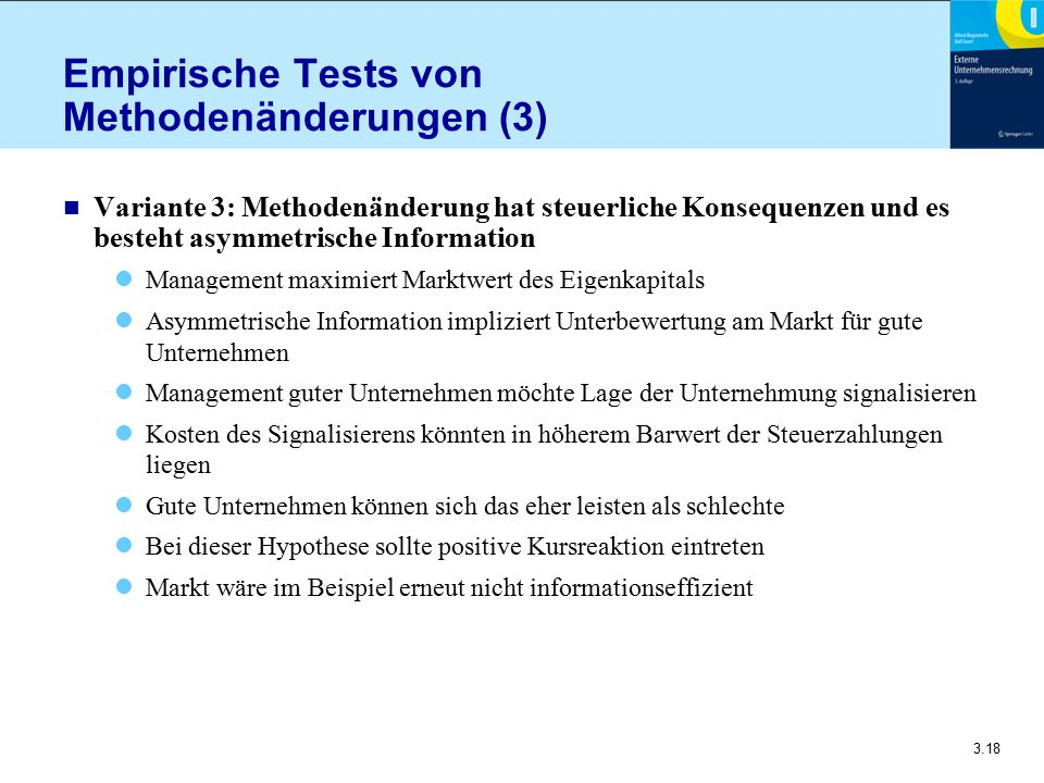 Empirische Tests von Methodenänderungen (3)
