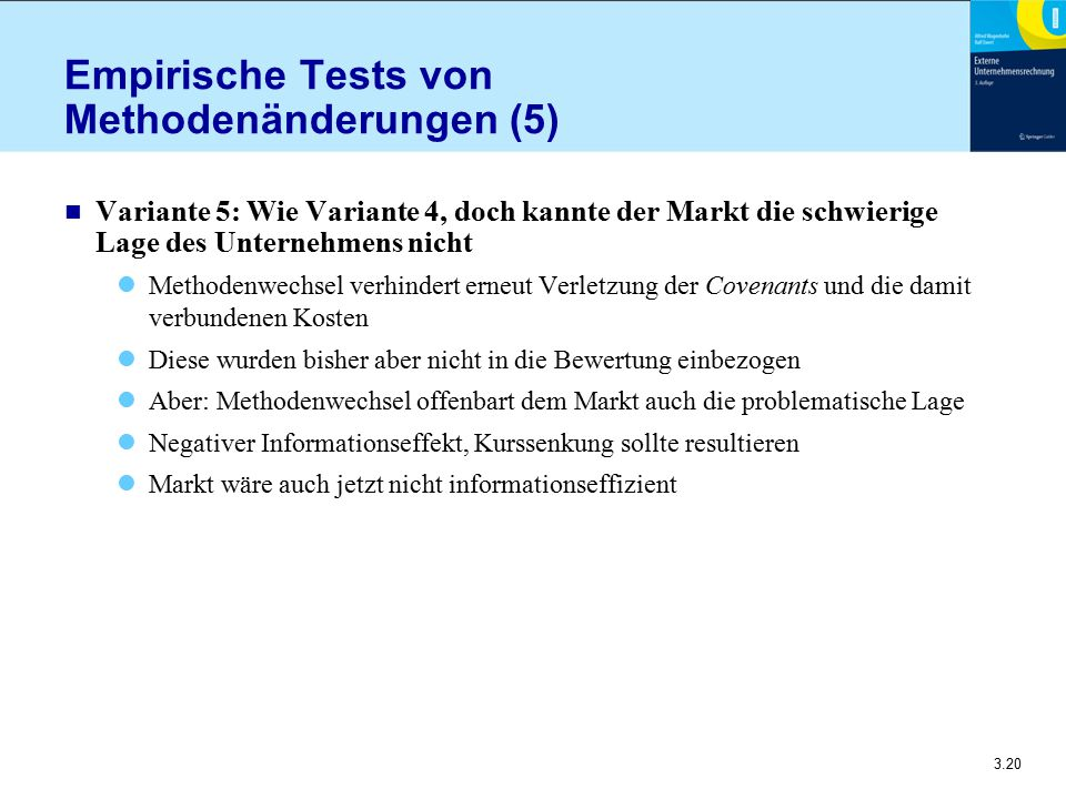 Empirische Tests von Methodenänderungen (5)