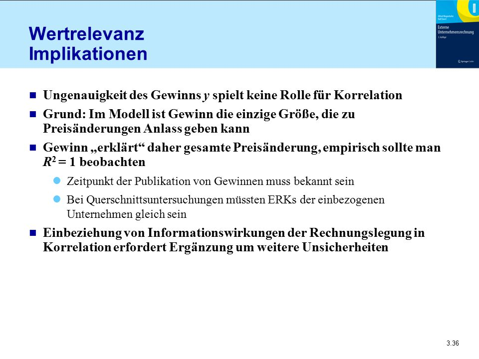 Wertrelevanz Implikationen