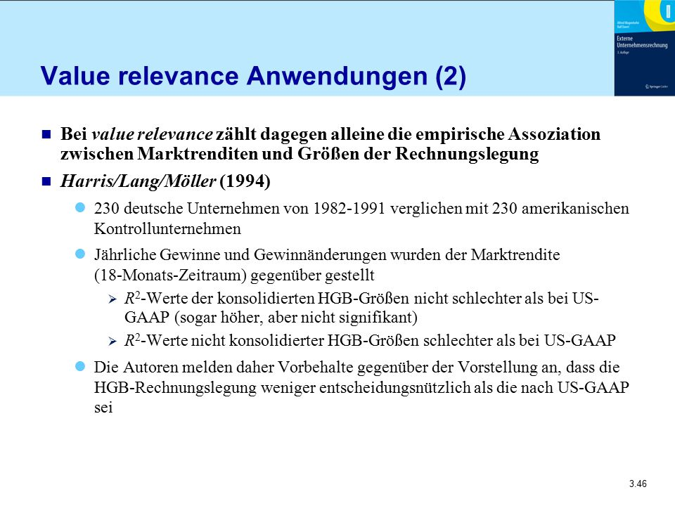 Value relevance Anwendungen (2)
