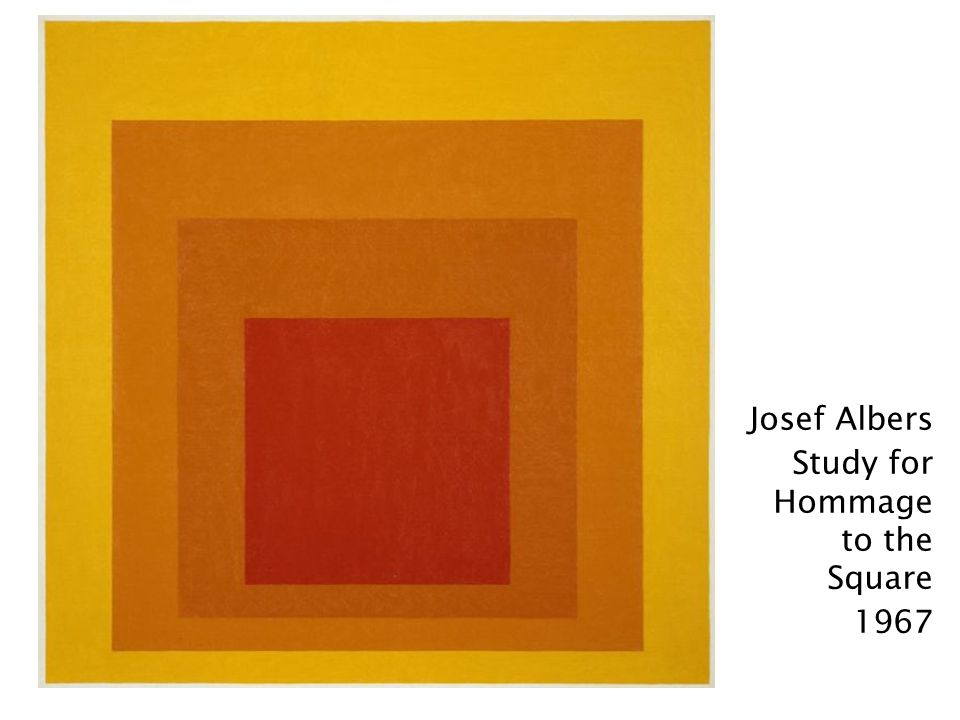 Josef Albers Study for Hommage to the Square 1967