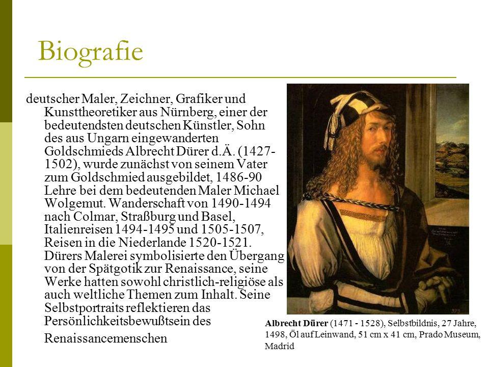 biografie - Albrecht Drer Lebenslauf