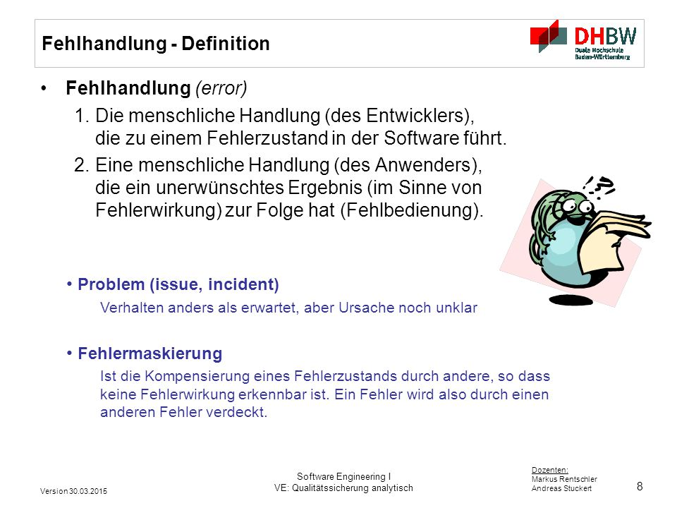 Fehlhandlung - Definition