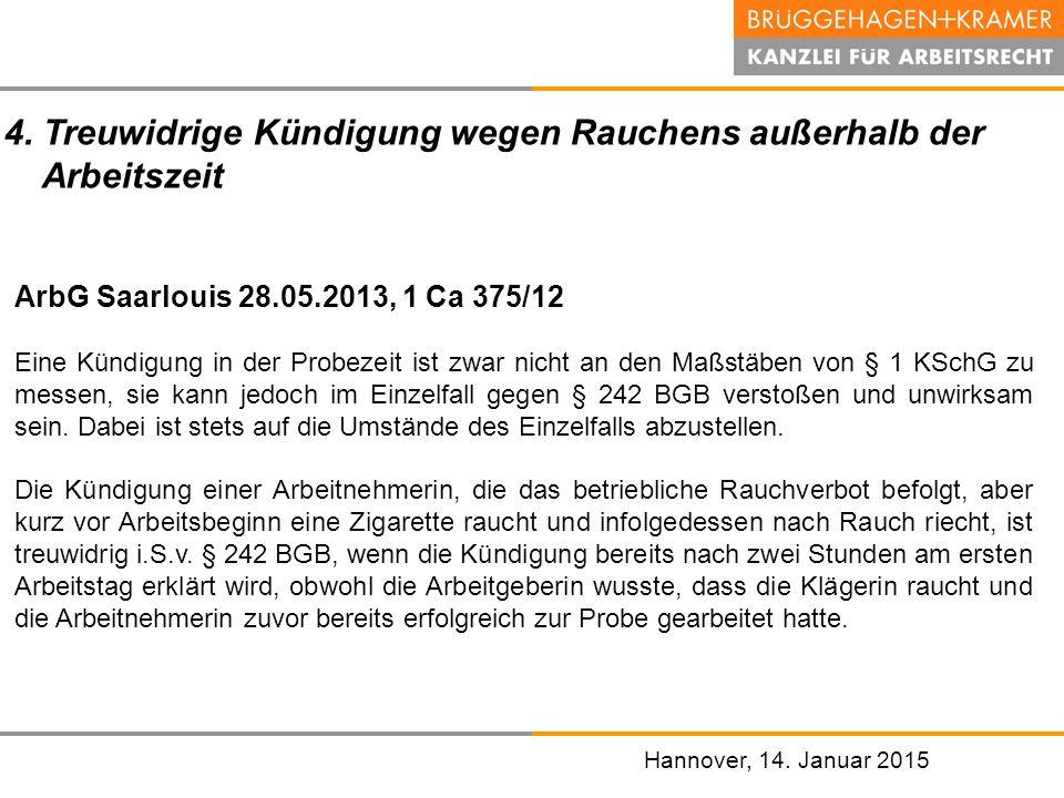 Aktuelle Rechtsprechung zur verhaltensbedingten Kündigung - ppt ...