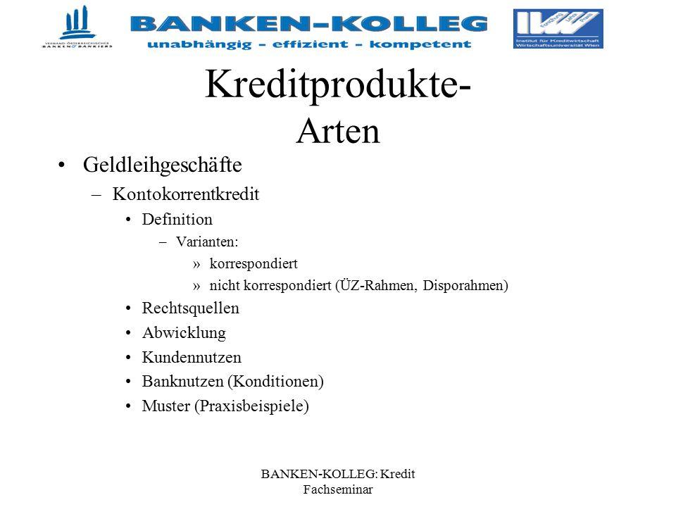 Banken Kolleg Kredit Fachseminar Ppt Herunterladen
