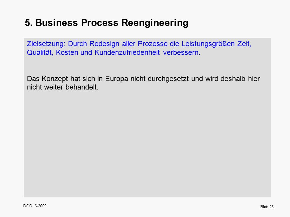 5. Business Process Reengineering