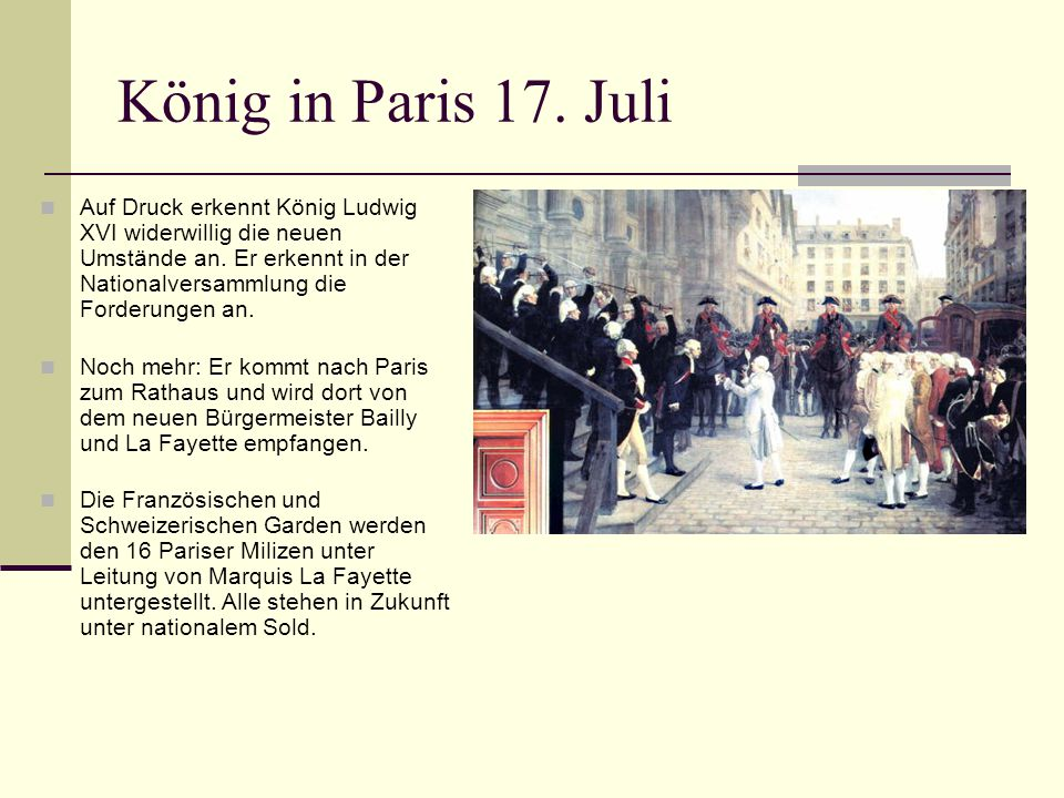 König in Paris 17. Juli