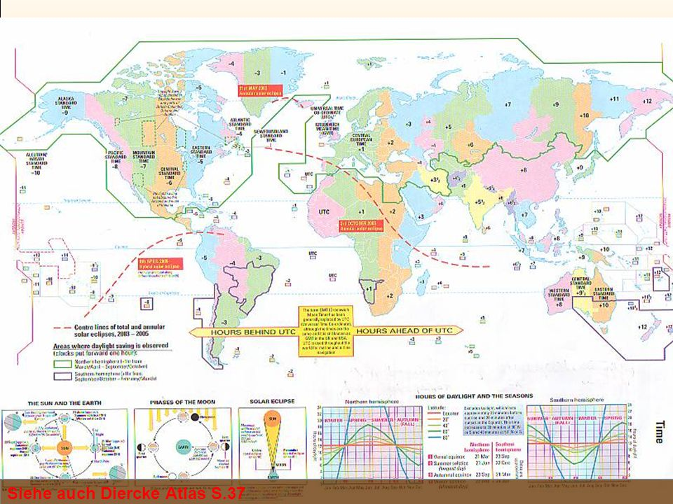 World Time Zone Map Siehe auch Diercke Atlas S.37