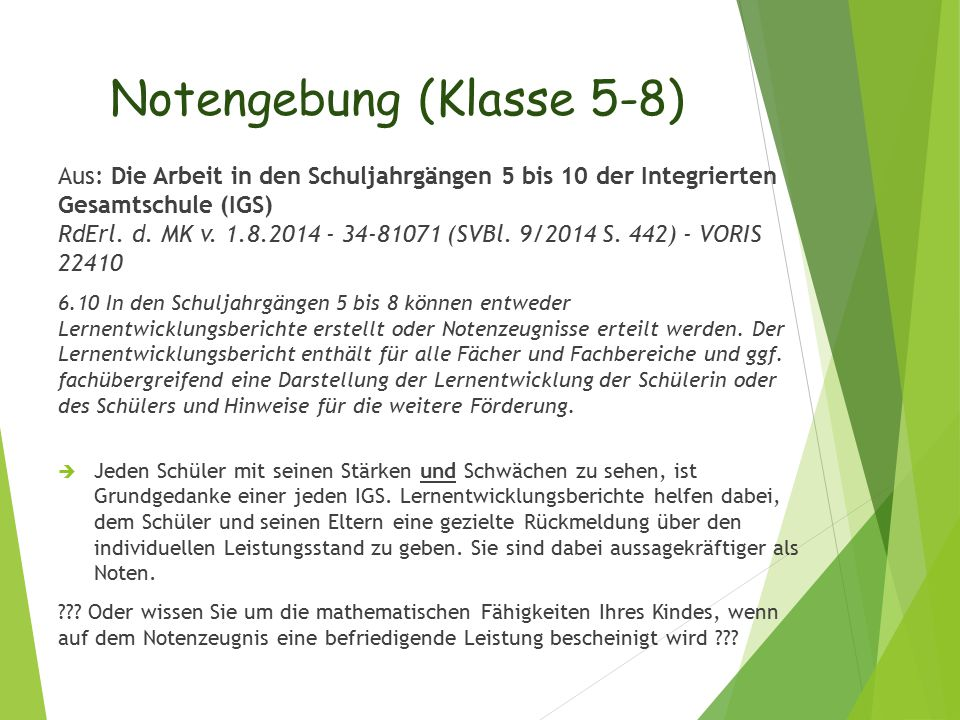 Notengebung (Klasse 5-8)