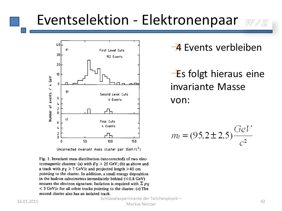 Eventselektion - Elektronenpaar