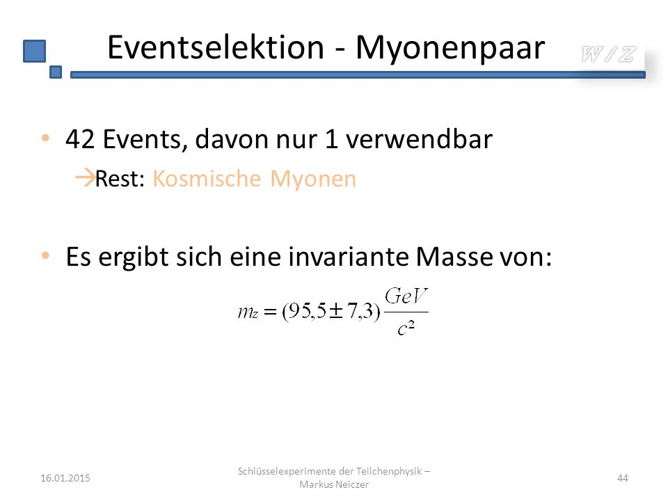 Eventselektion - Myonenpaar