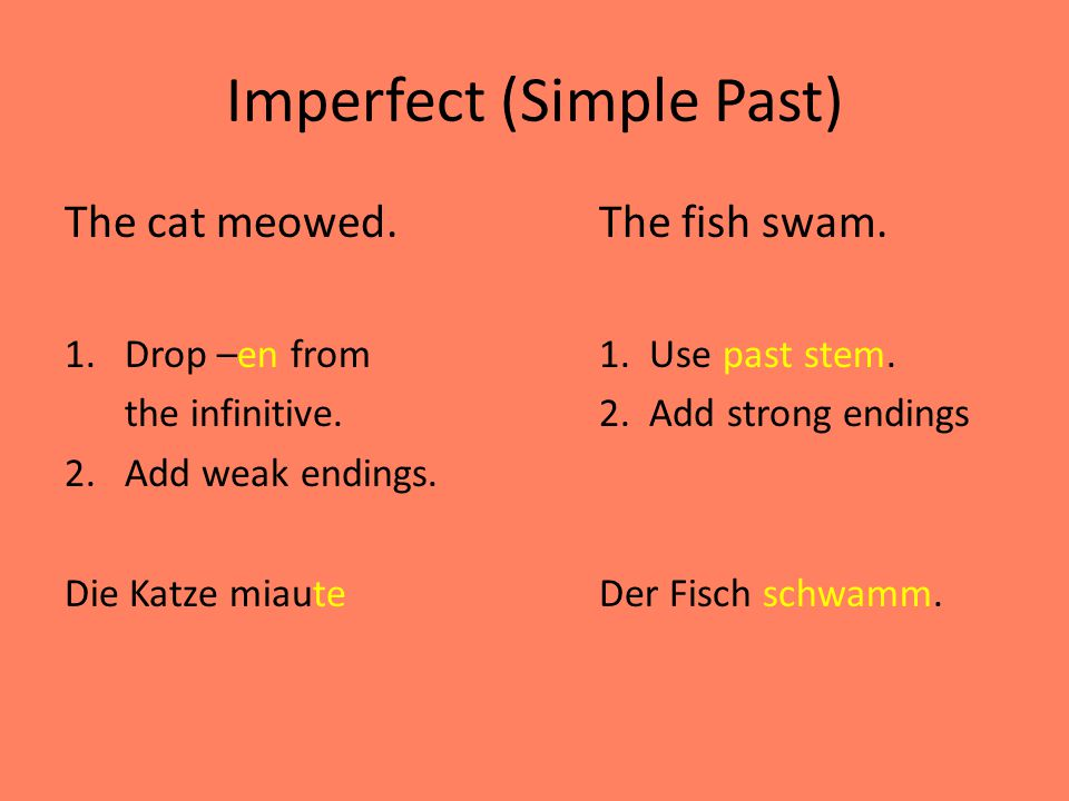 Imperfect (Simple Past)