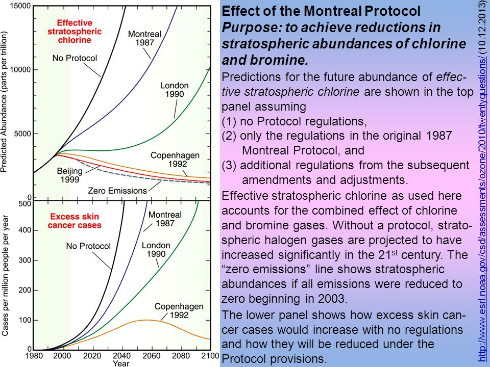 Effect of the Montreal Protocol