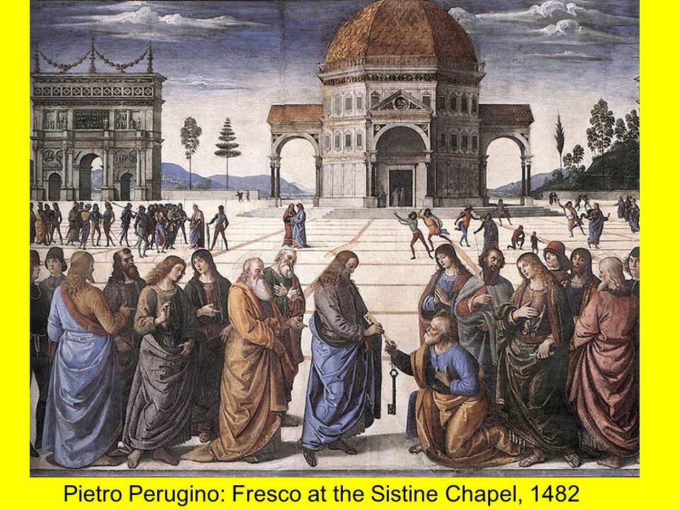 Pietro Perugino: Fresco at the Sistine Chapel, 1482