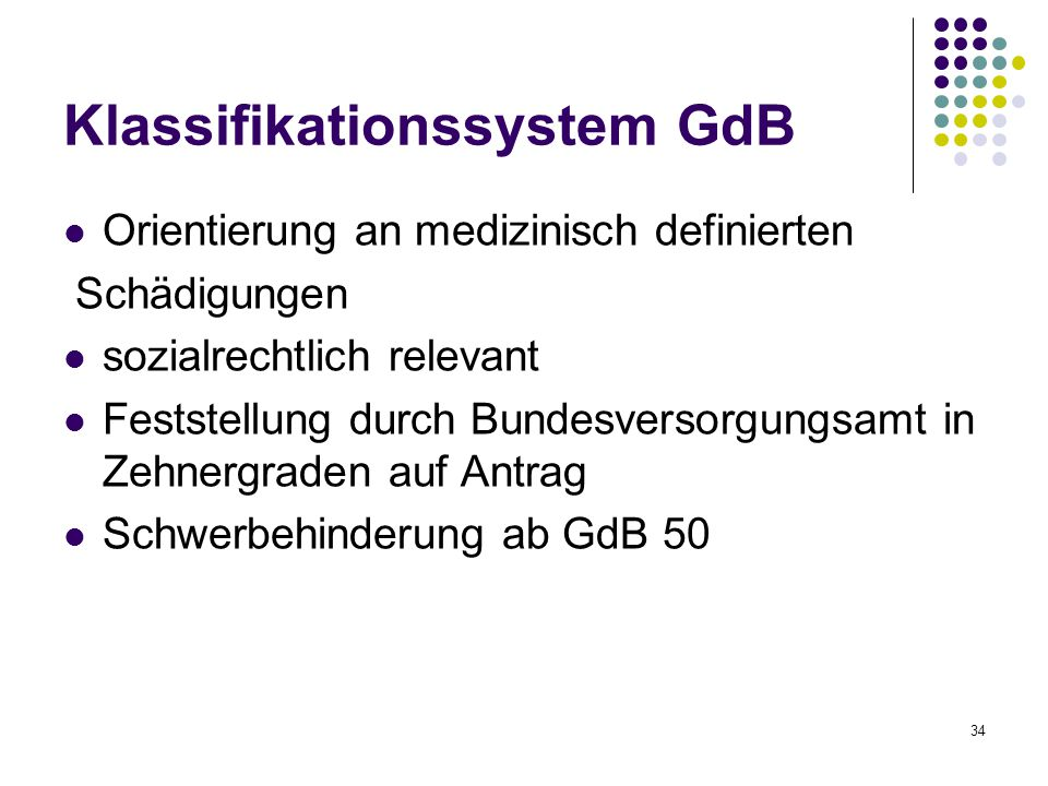 Klassifikationssystem GdB