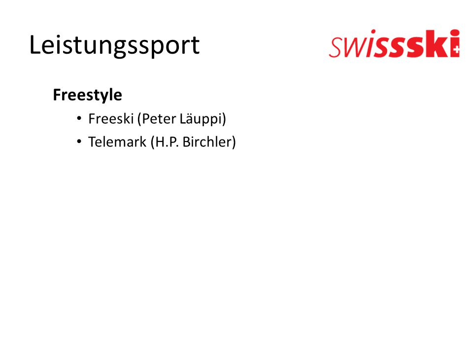 Leistungssport Freestyle Freeski (Peter Läuppi)