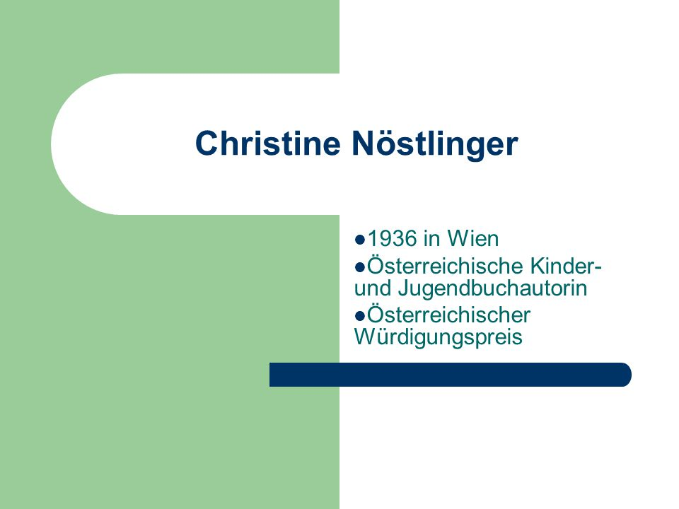 Christine Nöstlinger 1936 in Wien