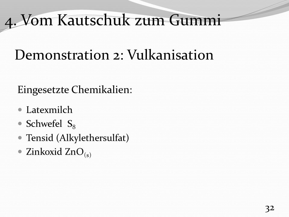 Demonstration 2: Vulkanisation