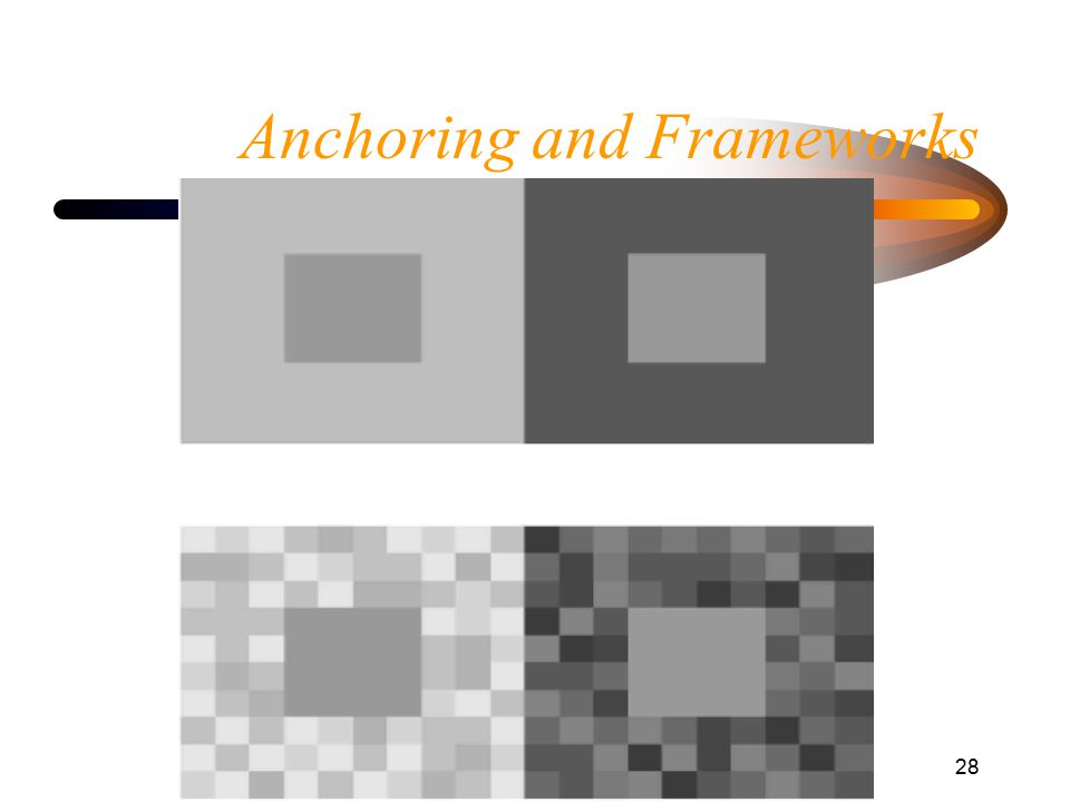 Anchoring and Frameworks