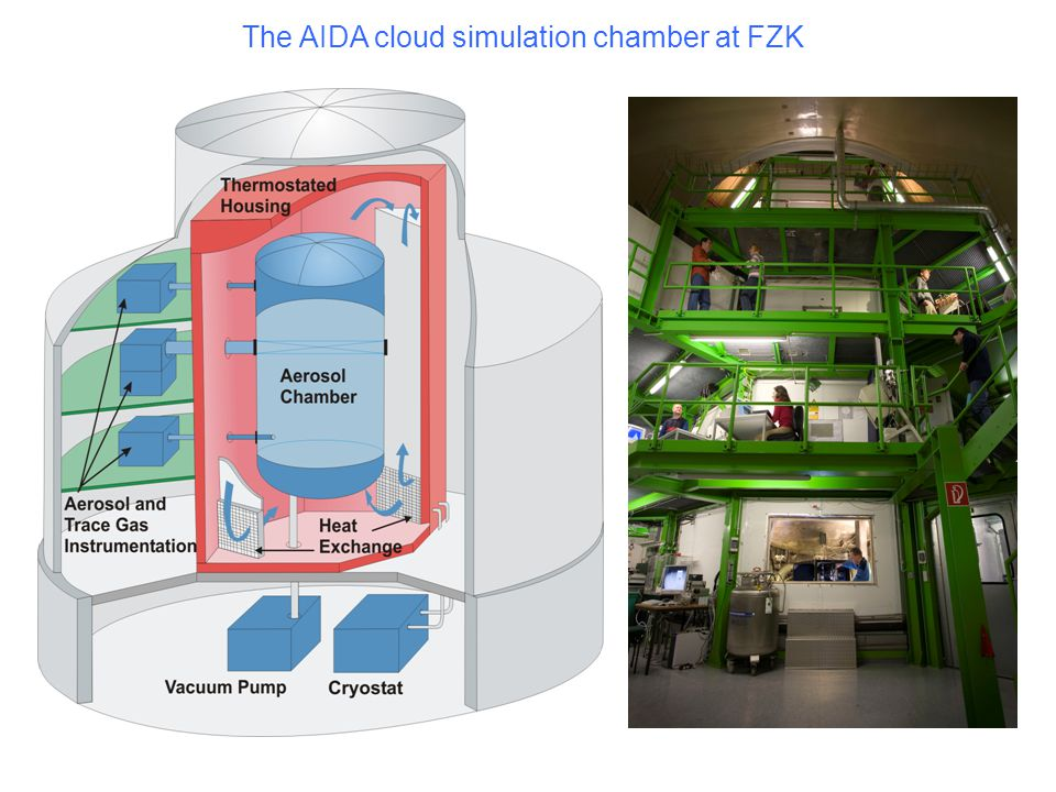 The AIDA cloud simulation chamber at FZK