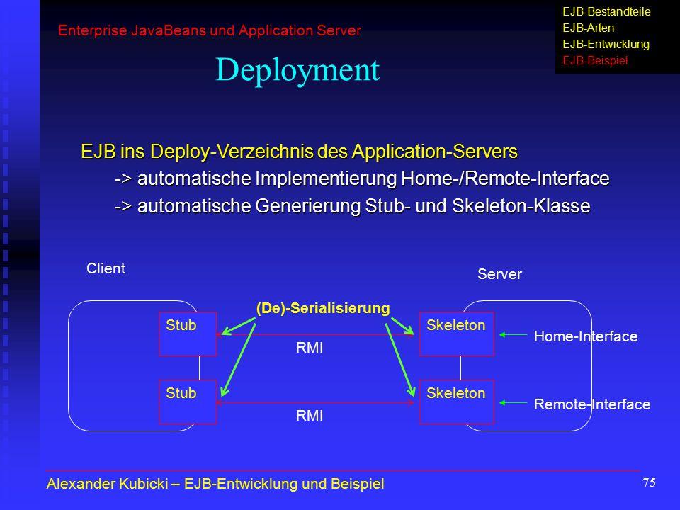 Enterprise JavaBeans (EJB) und Application Server - ppt herunterladen