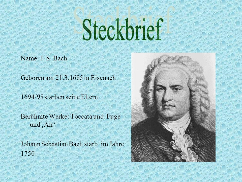 Johann Sebastian Bach Rene Andreas Ppt Herunterladen