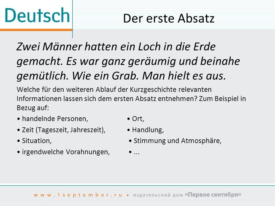 Unterrichtsentwurf zum Thema «Wolfgang Borchert, ein Vertreter der ...