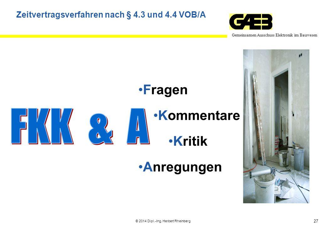 Vortrag Ausschreibung Regelmäßiger Instandhaltungsarbeiten über