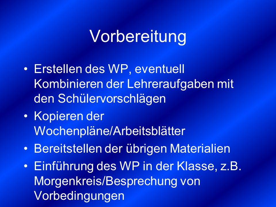 Wochenplan und Freiarbeit - ppt video online herunterladen