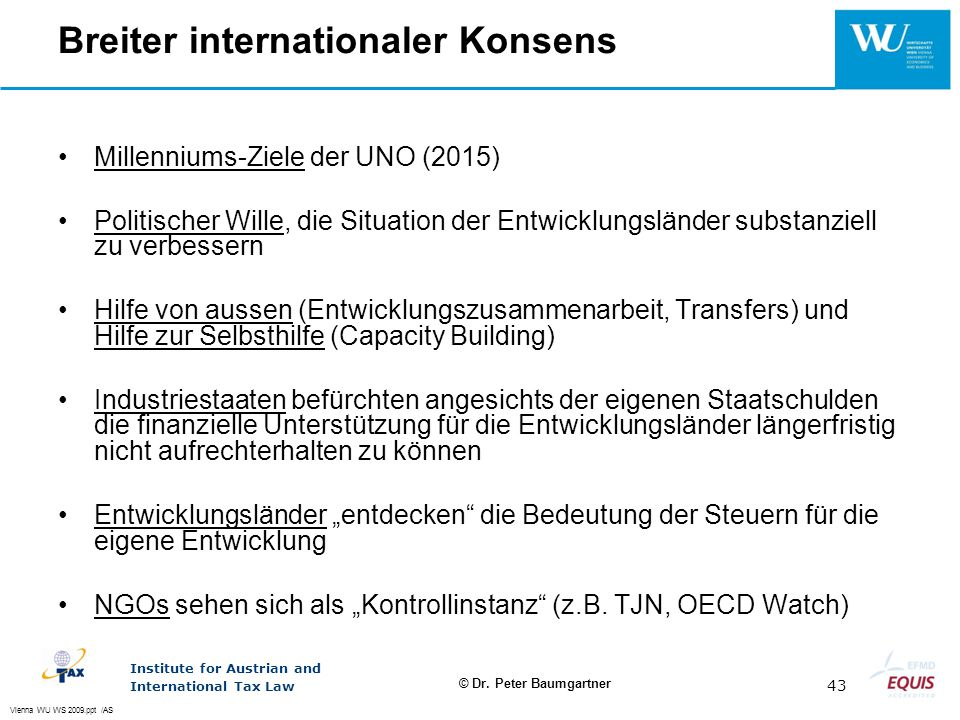Breiter internationaler Konsens