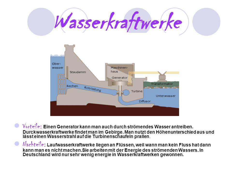 4 Wasserkraftwerke Vorteile