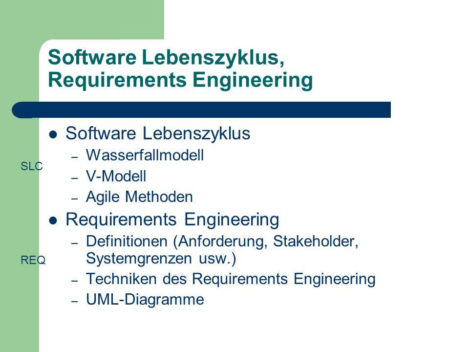 Software Lebenszyklus, Requirements Engineering