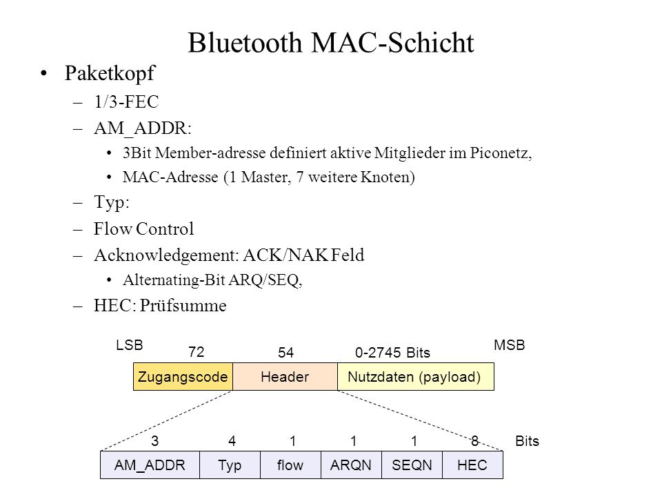 Bluetooth MAC-Schicht