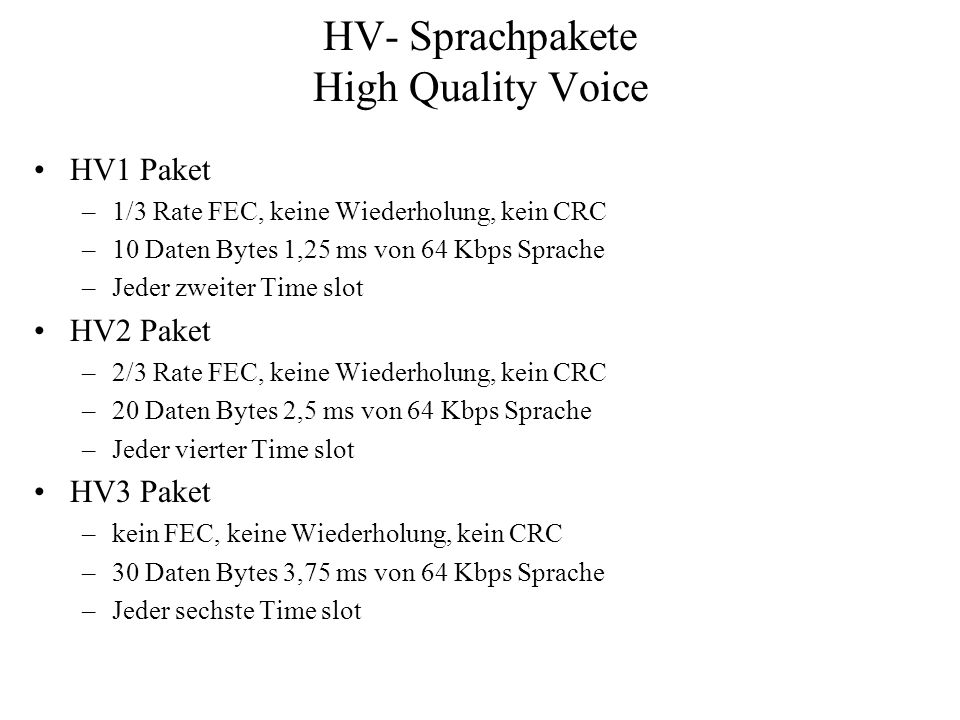 HV- Sprachpakete High Quality Voice