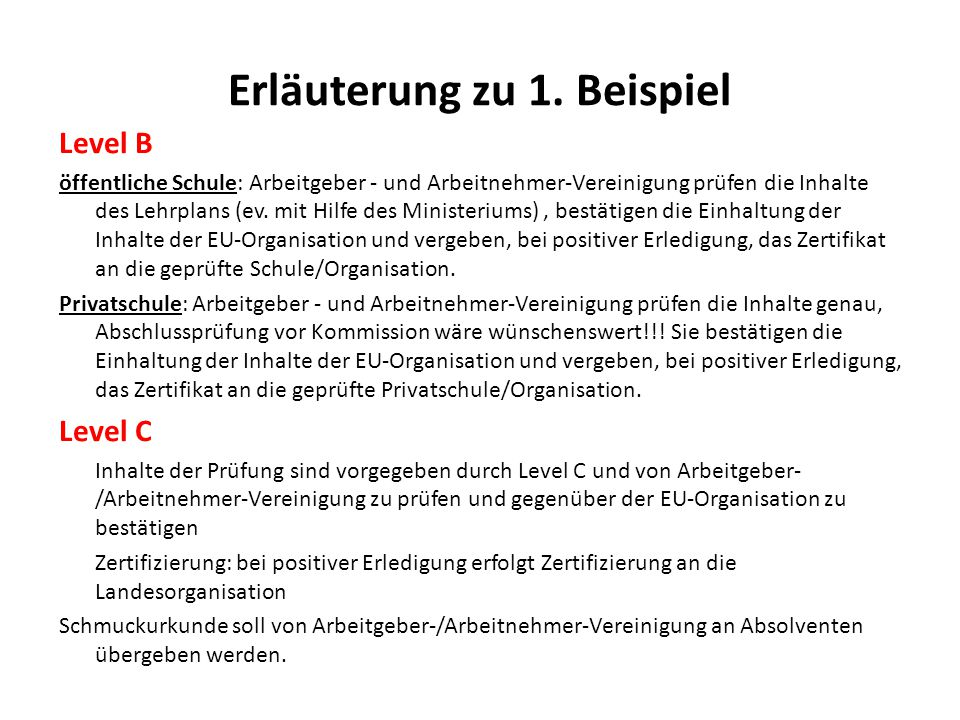 Zertifizierung 1. Beispiel - ppt herunterladen
