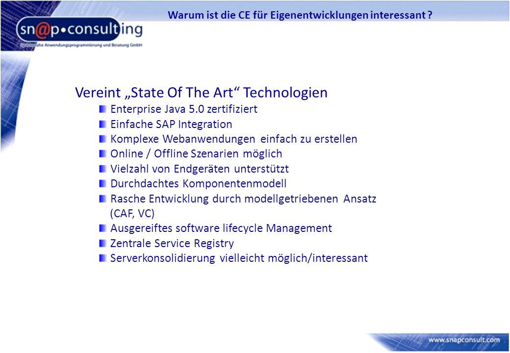 "Vereint ""State Of The Art Technologien"